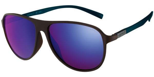 Sluneční brýle Esprit model 17922, barva obruby hnědá mat, čočka modrá zrcadlo, kód barevné varianty 535.