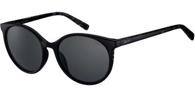 Sluneční brýle Esprit model 17933, barva obruby černá lesk bílá, čočka fialová, kód barevné varianty 538.