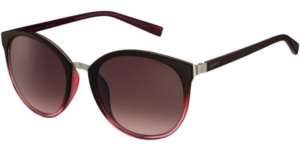 Sluneční brýle Esprit model 17943, barva obruby černá lesk červená, čočka hnědá gradál, kód barevné varianty 513.