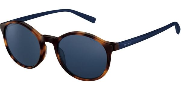 Sluneční brýle Esprit model 17950, barva obruby hnědá lesk modrá, čočka modrá, kód barevné varianty 545.