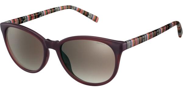 Sluneční brýle Esprit model 40003, barva obruby fialová lesk černá, čočka hnědá gradál, kód barevné varianty 577.