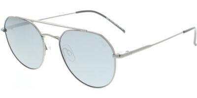 Sluneční brýle HIS model 04112, barva obruby šedá lesk, čočka stříbrná zrcadlo polarizovaná, kód barevné varianty 3.