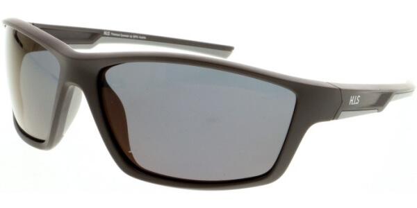 Sluneční brýle HIS model 07107, barva obruby hnědá mat, čočka fialová zrcadlo polarizovaná, kód barevné varianty 1.