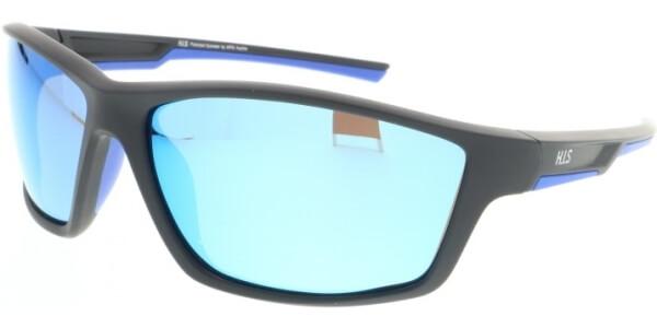 Sluneční brýle HIS model 07107, barva obruby černá mat, čočka modrá zrcadlo polarizovaná, kód barevné varianty 2.