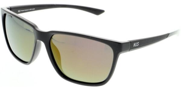 Sluneční brýle HIS model 07109, barva obruby černá lesk, čočka červená zrcadlo polarizovaná, kód barevné varianty 1.