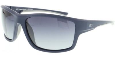 Sluneční brýle HIS model 07112, barva obruby modrá mat, čočka šedá gradál polarizovaná, kód barevné varianty 2.