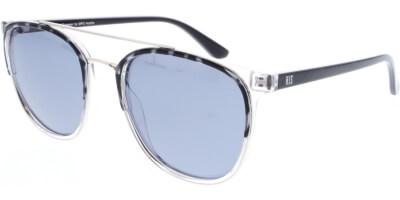 Sluneční brýle HIS model 08102, barva obruby černá lesk čirá, čočka modrá gradál polarizovaná, kód barevné varianty 2.