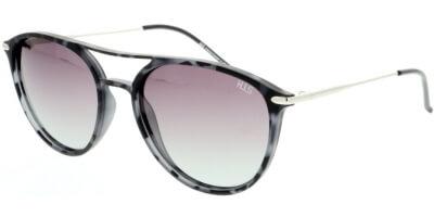 Sluneční brýle HIS model 08103, barva obruby černá mat šedá, čočka fialová gradál polarizovaná, kód barevné varianty 5.