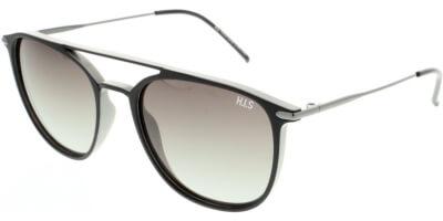 Sluneční brýle HIS model 08104, barva obruby černá mat šedá, čočka hnědá gradál polarizovaná, kód barevné varianty 2.