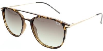 Sluneční brýle HIS model 08104, barva obruby hnědá mat šedá, čočka hnědá gradál polarizovaná, kód barevné varianty 3.