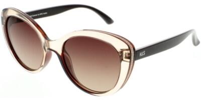 Sluneční brýle HIS model 08108, barva obruby hnědá lesk čirá, čočka hnědá gradál polarizovaná, kód barevné varianty 2.