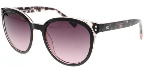 Sluneční brýle HIS model 08109, barva obruby černá lesk hnědá, čočka fialová gradál polarizovaná, kód barevné varianty 2.