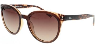 Sluneční brýle HIS model 08109, barva obruby hnědá lesk, čočka hnědá gradál polarizovaná, kód barevné varianty 3.