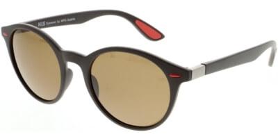 Sluneční brýle HIS model 08116, barva obruby hnědá mat, čočka hnědá polarizovaná, kód barevné varianty 2.