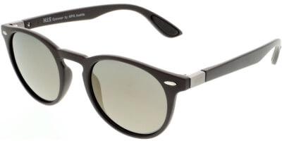 Sluneční brýle HIS model 08118, barva obruby hnědá mat, čočka zlatá zrcadlo polarizovaná, kód barevné varianty 3.