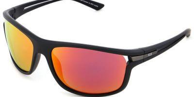 Sluneční brýle HIS model 27105, barva obruby černá mat, čočka červená zrcadlo polarizovaná, kód barevné varianty 1.
