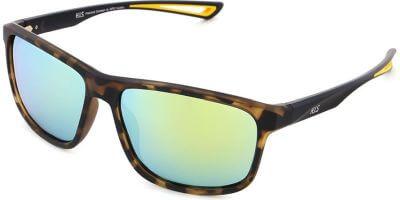 Sluneční brýle HIS model 27107, barva obruby hnědá mat, čočka zlatá zrcadlo polarizovaná, kód barevné varianty 1.