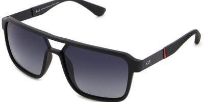 Sluneční brýle HIS model 28101, barva obruby černá mat, čočka šedá gradál polarizovaná, kód barevné varianty 1.