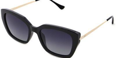 Sluneční brýle HIS model 28108, barva obruby černá lesk stříbrná, čočka šedá gradál polarizovaná, kód barevné varianty 1.