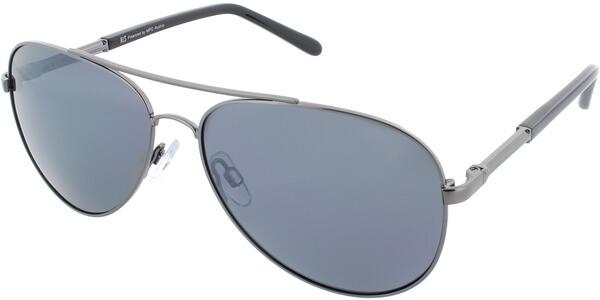 Sluneční brýle HIS model 64105, barva obruby stříbrná lesk černá, čočka stříbrná zrcadlo polarizovaná, kód barevné varianty 2.