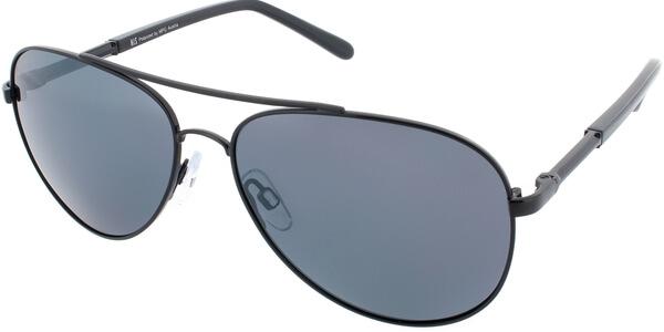 Sluneční brýle HIS model 64105, barva obruby černá lesk, čočka stříbrná zrcadlo polarizovaná, kód barevné varianty 3.