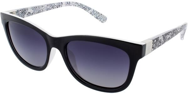 Sluneční brýle HIS model 68118, barva obruby černá lesk čirá, čočka šedá gradál polarizovaná, kód barevné varianty 1.