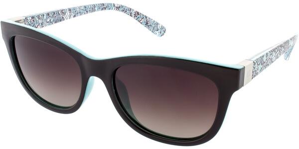 Sluneční brýle HIS model 68118, barva obruby černá lesk tyrkysová, čočka hnědá gradál polarizovaná, kód barevné varianty 3.
