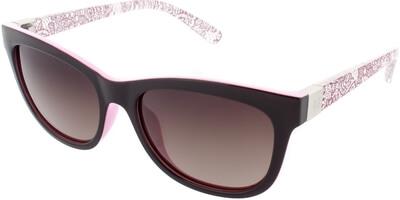 Sluneční brýle HIS model 68118, barva obruby černá lesk růžová, čočka hnědá gradál polarizovaná, kód barevné varianty 4.