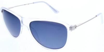 Sluneční brýle HIS model 68120, barva obruby čirá lesk šedá, čočka šedá zrcadlo polarizovaná, kód barevné varianty 3.