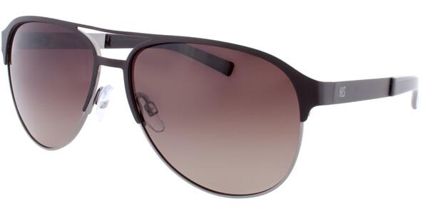 Sluneční brýle HIS model 74103, barva obruby hnědá mat, čočka hnědá gradál polarizovaná, kód barevné varianty 1.