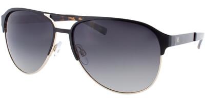 Sluneční brýle HIS model 74103, barva obruby černá mat stříbrná, čočka zelená gradál polarizovaná, kód barevné varianty 2.