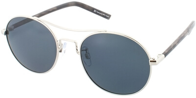Sluneční brýle HIS model 74109, barva obruby stříbrná lesk hnědá, čočka šedá polarizovaná, kód barevné varianty 2.