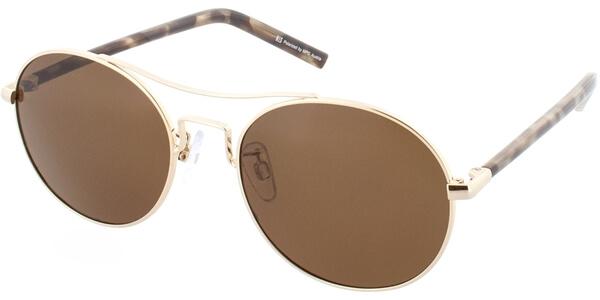 Sluneční brýle HIS model 74109, barva obruby zlatá lesk hnědá, čočka hnědá polarizovaná, kód barevné varianty 3.