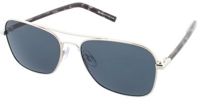 Sluneční brýle HIS model 74110, barva obruby stříbrná lesk černá, čočka šedá polarizovaná, kód barevné varianty 2.