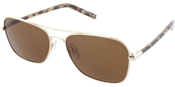 Sluneční brýle HIS model 74110, barva obruby zlatá lesk hnědá, čočka hnědá polarizovaná, kód barevné varianty 3.