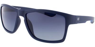 Sluneční brýle HIS model 77101, barva obruby modrá mat, čočka modrá gradál polarizovaná, kód barevné varianty 2.