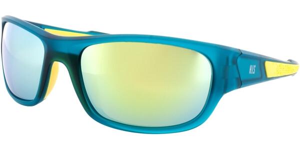 Sluneční brýle HIS model 77105, barva obruby zelená mat žlutá, čočka žlutá zrcadlo polarizovaná, kód barevné varianty 1.