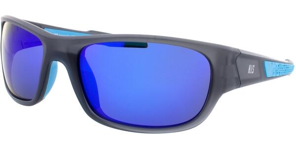Sluneční brýle HIS model 77105, barva obruby šedá mat modrá, čočka modrá zrcadlo polarizovaná, kód barevné varianty 2.