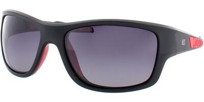 Sluneční brýle HIS model 77106, barva obruby černá mat červená, čočka šedá gradál polarizovaná, kód barevné varianty 1.