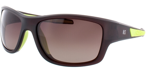 Sluneční brýle HIS model 77106, barva obruby hnědá mat zelená, čočka hnědá gradál polarizovaná, kód barevné varianty 2.
