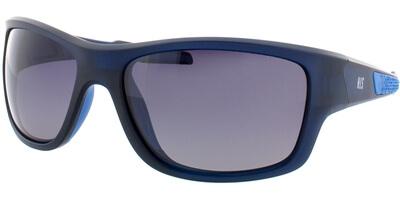 Sluneční brýle HIS model 77106, barva obruby modrá mat, čočka šedá gradál polarizovaná, kód barevné varianty 3.