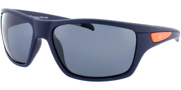Sluneční brýle HIS model 77107, barva obruby modrá mat, čočka šedá polarizovaná, kód barevné varianty 3.