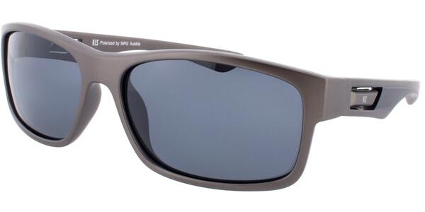 Sluneční brýle HIS model 77108, barva obruby šedá mat černá, čočka šedá polarizovaná, kód barevné varianty 1.