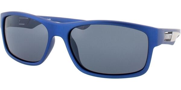 Sluneční brýle HIS model 77108, barva obruby modrá mat šedá, čočka šedá polarizovaná, kód barevné varianty 4.