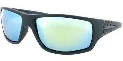 Sluneční brýle HIS model 77109, barva obruby zelená mat žlutá, čočka Žlutá zrcadlo polarizovaná, kód barevné varianty 1.