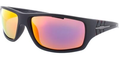 Sluneční brýle HIS model 77109, barva obruby černá mat, čočka červená zrcadlo polarizovaná, kód barevné varianty 2.