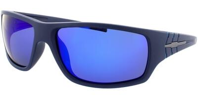 Sluneční brýle HIS model 77109, barva obruby modrá mat, čočka modrá zrcadlo polarizovaná, kód barevné varianty 3.