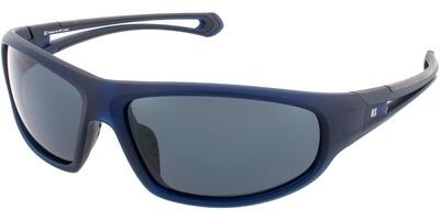 Sluneční brýle HIS model 77110, barva obruby modrá mat, čočka šedá polarizovaná, kód barevné varianty 2.