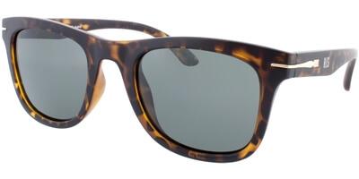 Sluneční brýle HIS model 78100, barva obruby hnědá mat zlatá, čočka zelená polarizovaná, kód barevné varianty 2.
