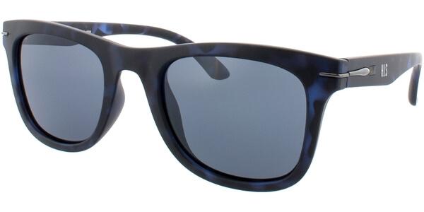 Sluneční brýle HIS model 78100, barva obruby modrá mat černá, čočka šedá polarizovaná, kód barevné varianty 4.